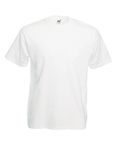 Fruit of the Loom Lot de 10 T-shirts en coton blanc uni - Blanc - Small