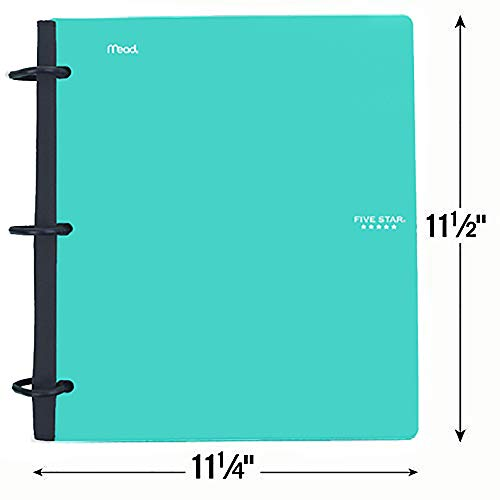 Five Star Flex Hybrid NoteBinder, 1-1/2 Inch Binder with Tabs, Notebook and 3 Ring Binder All-in-One, Teal (38681) Photo #2