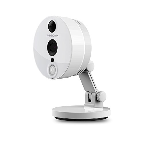Foscam C2 1080P Full HD WiFi - Cámara IP de Seguridad, Lente 2MP con P2P, Audio Birireccional, Blanco