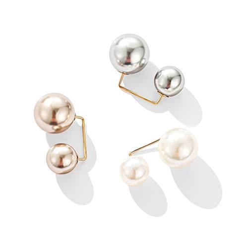 3 Stücke Damen Shirt Brosche, Pearl Brooches Vertuschen Pin Sicherheit Brosche Rechtwinklige Strickjacke Brosche Pin für Kleidung Lieferungen