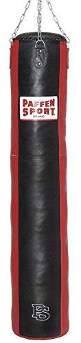 Paffen Sport Star Leder-Boxsack; schwarz/rot; gefüllt; 180cm; 65kg