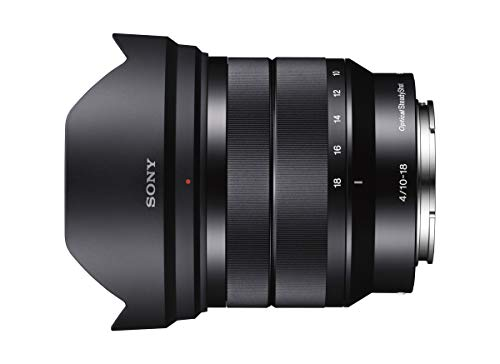 Sony - E 10-18mm F4 OSS Wide-Angle Zoom Lens (SEL1018),Black