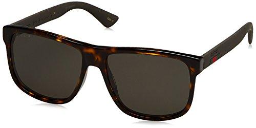 Fashion Shopping Gucci Men GG0010S 58 Tortoise/Grey Sunglasses 58mm