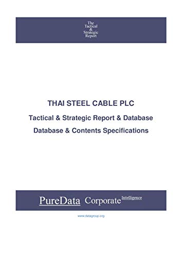 THAI STEEL CABLE PLC: Tactical & Strategic Database...