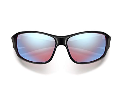 Pilestone Red-Green Color Blind Glasses TP-028 Sporty Style Purple Lenses
