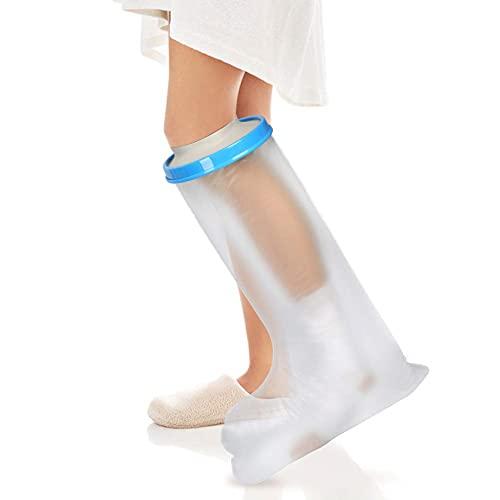 Protector funda bolsa ducha escayola pierna adulto impermeable bolsa protector de escayola para mantener el vendaje seco, bolsa de fundición hermética para el tobillo del pie de herida (pierna: 60 cm)