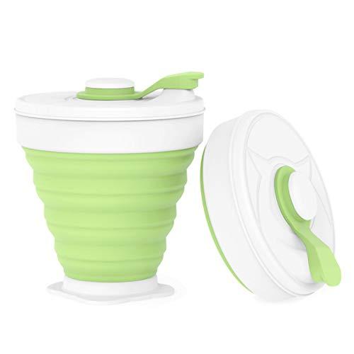 LIANYG Kaffeetassen Travel Collapsible Silicone Tragbare Tazas für den Außenbereich Camping Wandern Picknick Faltbüro Büro Wasserbecher