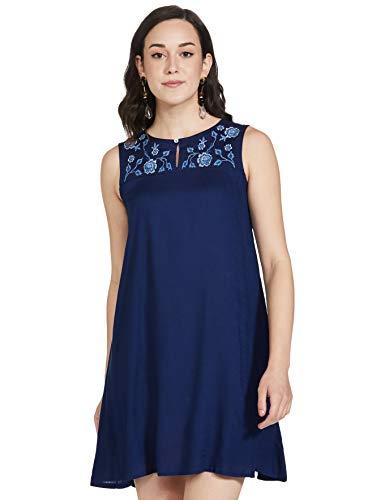 AND Women's Rayon A-Line Midi Dress