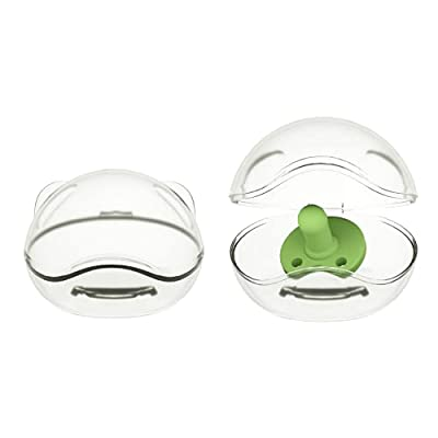 LANEYLI Pacifier Case Pacifier Holder Case Binky Holder Case Pacifier Box Pacifier Accessories 2 Pack Clear