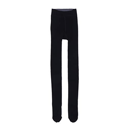 FENICAL Invierno Mujer Terciopelo Elástico Leggings Pantalones Medias Gruesas Pantimedias (Negro)
