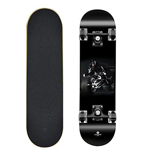 Cruiser Longboards Skateboard Complete 9 Capas Maple Wood Longboards para Adultos Adolescentes Jóvenes Principiantes Niñas Niños Niño 31''x 8 ''