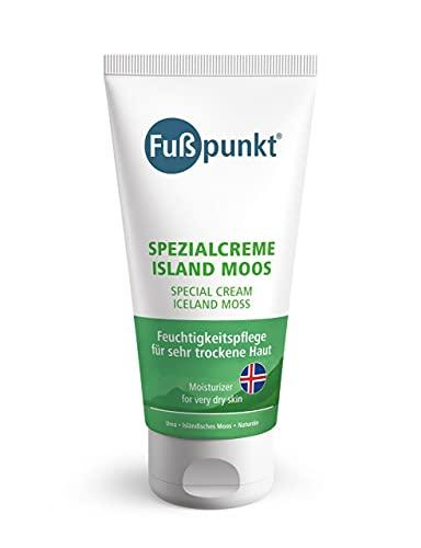 Fußpunkt - Crema especial Islandia Musgo con urea, espino amarillo y aceite de aguacate - Crema para pies para piel irritada y seca - 150 ml