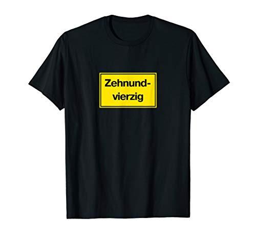 Zehnundvierzig 50. Geburtstag Bauarbeiter Handwerker Spaß T-Shirt
