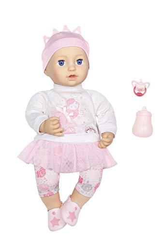 Zapf Creation 702857 Baby Annabell Sweet Dreams Mia, weiche Puppe mit Schlafaugen, 43 cm