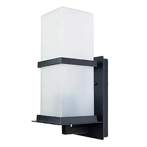 QNDDDD Lámpara de Pared Vintage Lámpara de Pared Led de Pasillo Antiguo Lámpara de Pared Exterior Impermeable Moderna Balcón Exterior Escalera Luz de Pared de Patio),Negro,a (5 W)