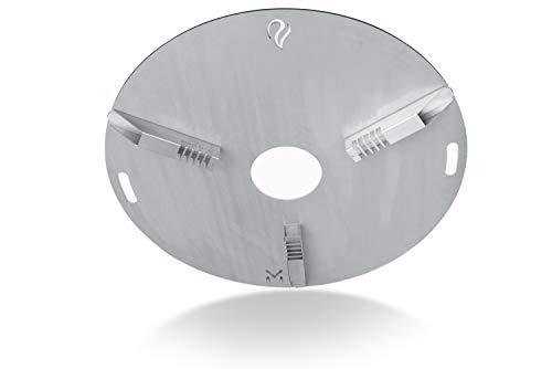 Universal Auflageleisten   Größe einstellbar   Abstandshalter   für Feuerplatte Grillplatte Plancha   Made in Germany Edelstahl sichert Platte gegen Verrutschen