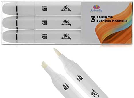 Colorless Blender Alcohol Based Brush Markers for Drawing Pack of 3 Dual Tip Permanent Marker product image