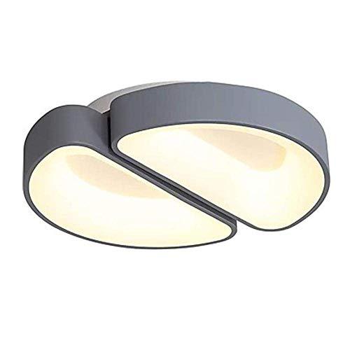 HLL Lámpara de Techo, Led Regulable Lámpara de Techo para Dormitorio Geometría Creativa - Doble Semicírculo - Lámpara de Techo de Diseño con Control Remoto Lámpara de Salón de Moda Moderna Luces Deco
