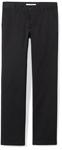 Amazon Essentials Plus Uniform Chino Pants, Negro, 8(P)