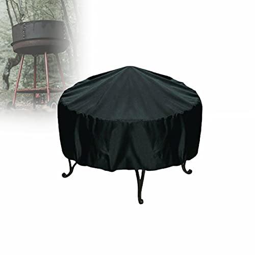 CSYHJRS Waterproof Heavy Duty BBQ Grill Cover, Oxford Fabric Round Patio Furniture Covers, Fade and UV Resistant, for Patio, Outdoor (Size : 55x50cm)