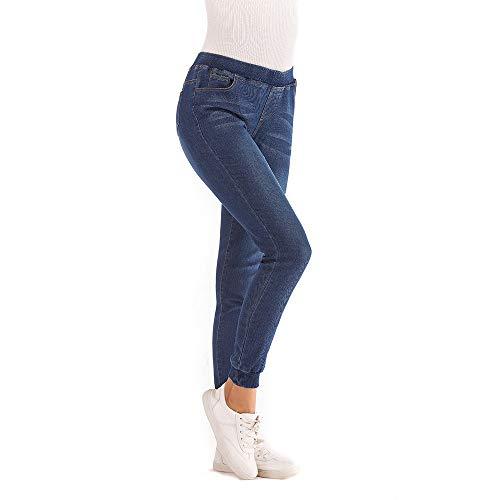 Vectry Damen Marken 7/8 Jeans Hosen for Damen Jeanshose Damen Jeans Hosen mädchen Jeanshosen Stretch Damen Jeanshose Damen Dunkelblau