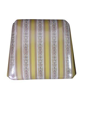 Set Sedute Sedile Imbottita, per Sedia Arte Povera, Ricambio, ricambi, 100% Made in Italy (Seduta, Imbottita Gialla, 6)