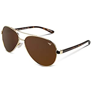 KastKing Kenai Aviator Polarized Sunglasses for Men and Women, Polarized Lenses, 100% UV Protection, Lightweight Frame