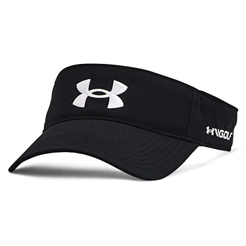 Under Armour Men's Golf96 Visor , Black (001)/White , One Size Fits Most