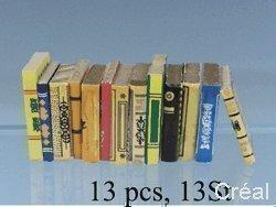 Unbekannt Creal 71430 Coloré Livres 13 Pièce 1:12 pour Maison de Poupée