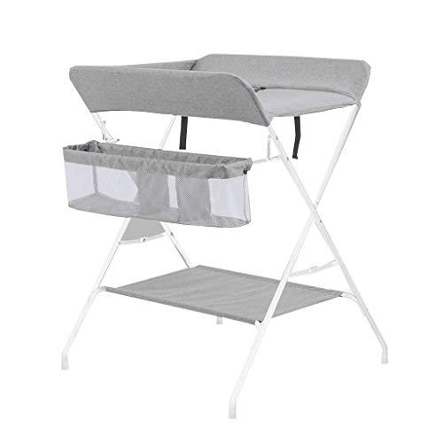 JALAL Klappbarer Wickeltisch, ideal für unterwegs, Baby-Aufbewahrungsstation, Metallwäsche