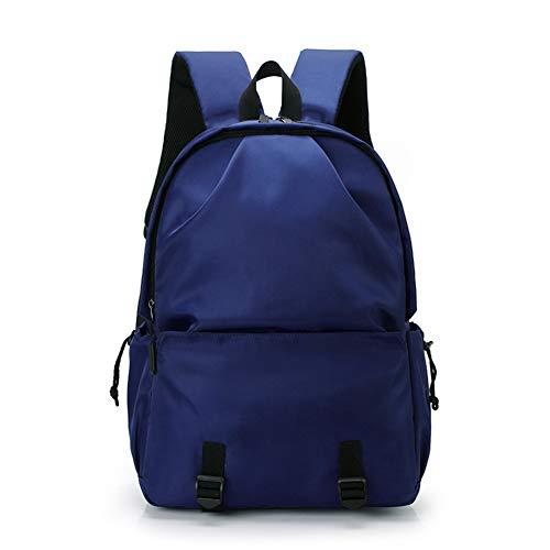 Zaino per uomo Zaino moda casual Zaino USB impermeabile Zaino per studenti Borsa sportiva per esterno Borse blu-blue-Onesize