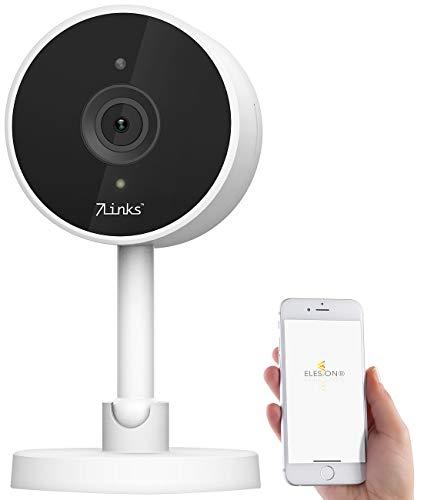 7links Webcam: Full-HD-IP-Kamera mit Bewegungserkennung, IR-Nachtsicht, für Echo Show (HD IP Überwachungskamera)