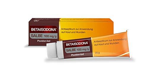 Betaisodona® Salbe 25 g Wunddesinfektion für Erwachsene und Kinder ab 6 Monaten, Wunddesinfektionsmittel ohne Alkohol mit PVP-Iod – brennt nicht
