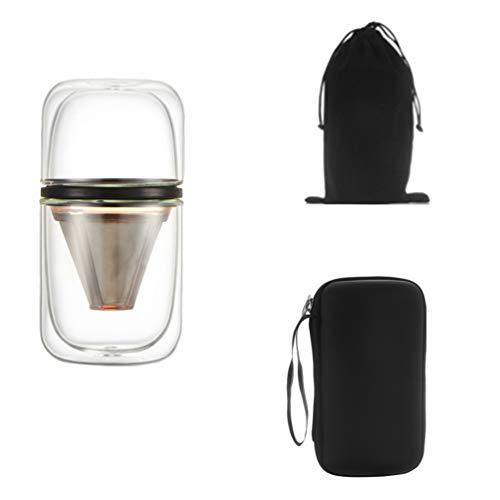 UPKOCH cafetera portátil cafetera de doble taza tetera cafetera con una aspiradora cafetera personal con bolsa