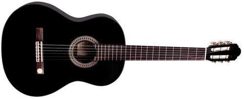Gitarre Miguel J. Almeria 4/4 Konzertgitarre SCHWARZ hochglänzend