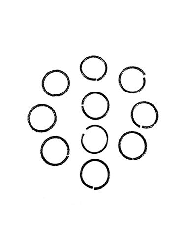 Runemara Design 10 Stück Aluminiumringe rund 22x2mm schwarz