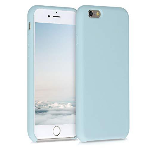 kwmobile Cover Compatibile con Apple iPhone 6 / 6S - Cover Custodia in Silicone TPU - Back Case Protezione Cellulare Celeste Pastello