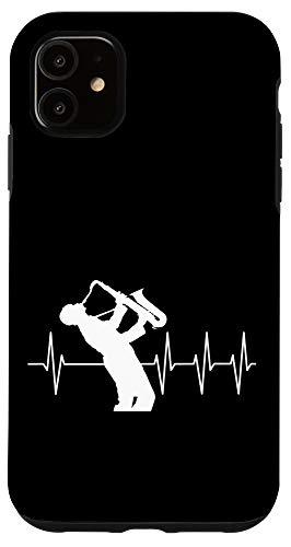 iPhone 11 Saxophonist Gift Funny Heartbeat EKG Saxophone Case