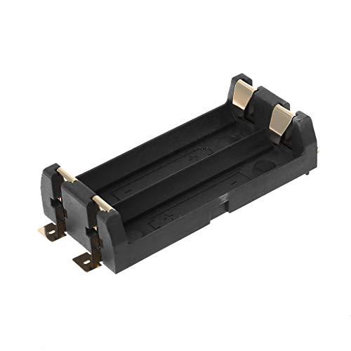 KLOVA Caja de Almacenamiento de 2 Pilas AA, contenedor, Caja de Almacenamiento de baterías, contenedor de plástico, Accesorios de Bricolaje