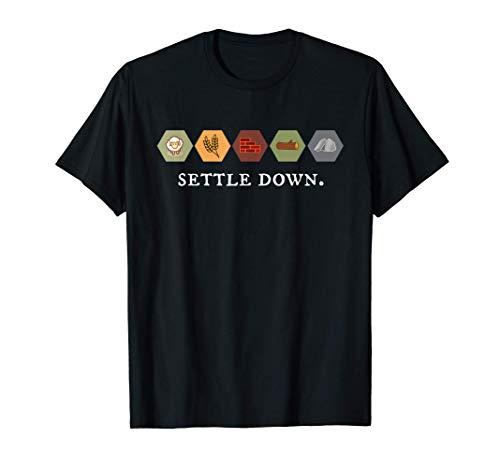 Settle Down Board Game Night Shirt T-Shirt