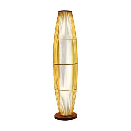Lámpara de pie Luz de pie Lámparas Verticales Luces Papel Tejido nórdico Lámpara de pie LED Luz de Suelo Dormitorio Sala de Estar Lámparas de pie de Interior Iluminación Interior