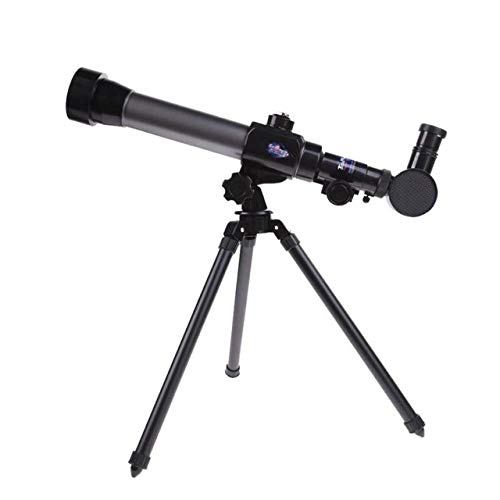 Qsdxlsd Binoculars 20X 30X 40X Refractor Astronomical Telescope Monocular with Tripod for Children Observation Scope Gift (Color : Black)