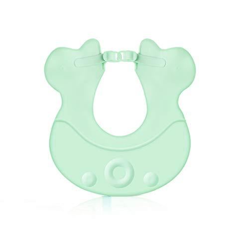 Shampooing Cap Baby Shower Cap Bébé Douche Imperméable Oreillettes Enfant Bonnet De Douche Réglable (Couleur : Green)