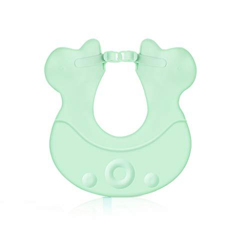 Shampooing Cap Baby Shower Cap Bébé Douche Imperméable Oreillettes Enfant Bonnet De Douche Réglable ( Color : Green )