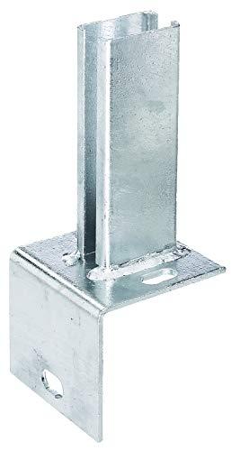 GAH-Alberts 685690 Pfostenträger für Zaunpfosten auf L-Randsteinen | zum Aufschrauben | feuerverzinkt | Platte 84 x 100mm | für Pfosten 60 x 40 mm