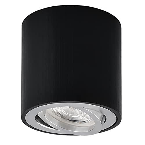 KYOTECH Focos LED Techo Focos Superficie Orientable incl. Bombilla 5W GU10 Plafón Focos Blanco Cálido 3000K Focos LED...