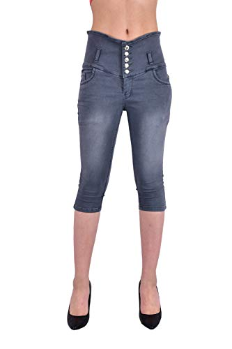 LUXSIS Women's Denim Lycra Skinny Casual 5 Buttoned High Waist...