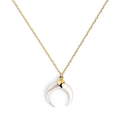 SINGULARU  - Collar Moonset Nácar Oro - Joyas mujer
