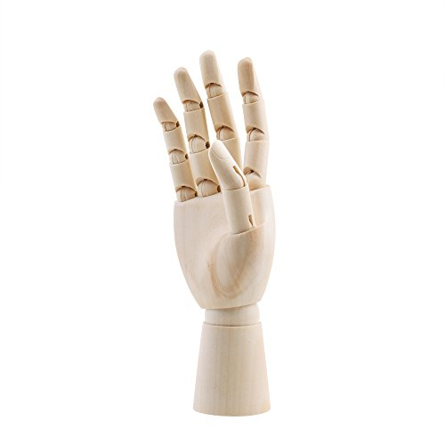 CM 7' Wooden Articulated Figure Manikin Hand Artist Drawing Hand Model for Drawing Sketching Painting (Right Hand)