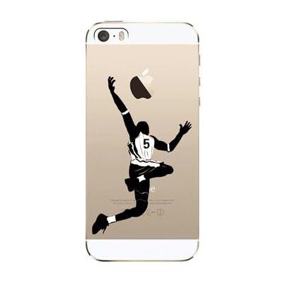 NOVAGO Funda Compatible Apple iPhone 5, iPhone 5S, iPhone SE Gel de Silicona Resistente con Motivos (Baloncesto)